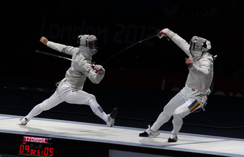 Olympic sabre fencing